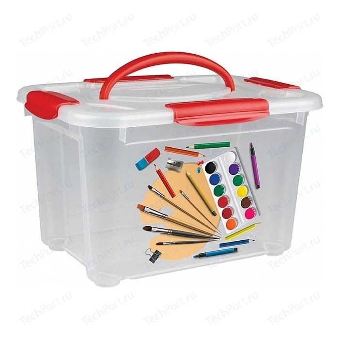 Коробка универсальная Бытпласт коробка универсальная с ручкой и декором детское творчество 5,5л (4332026) детское постельное бельё cotton box детское постельное бельё