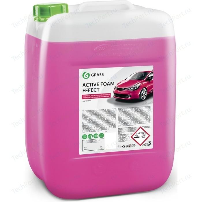 Активная пена GRASS Active Foam Effect, эффект снежных хлопьев, 21 кг автошампунь grass active foam effect 6 кг