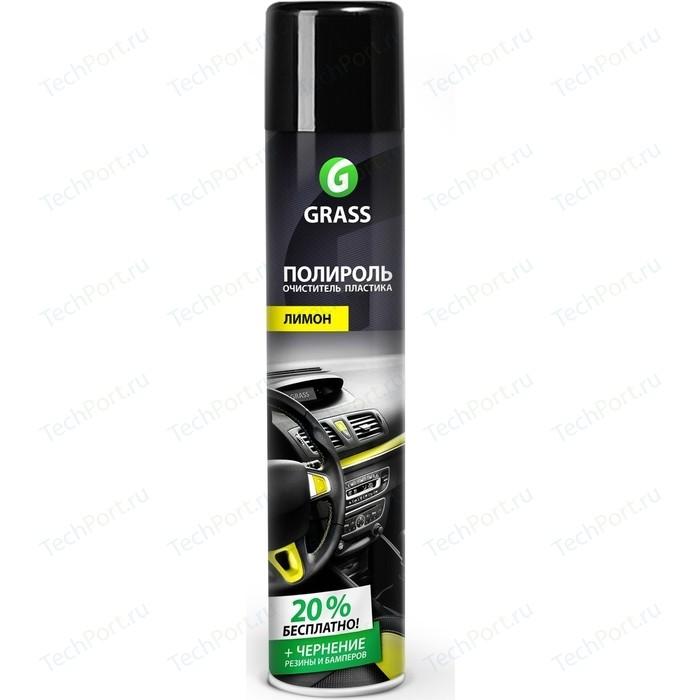 Полироль-очиститель пластика GRASS Dashboard Cleaner глянцевый блеск (Лимон), 750мл