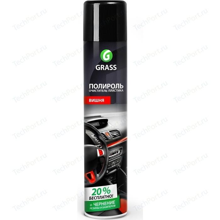 Полироль-очиститель пластика GRASS Dashboard Cleaner глянцевый блеск (Вишня), 750мл