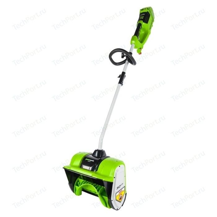Снегоуборщик аккумуляторный GreenWorks 40V 30см, бесщеточный, без АКБ и ЗУ (2600807)