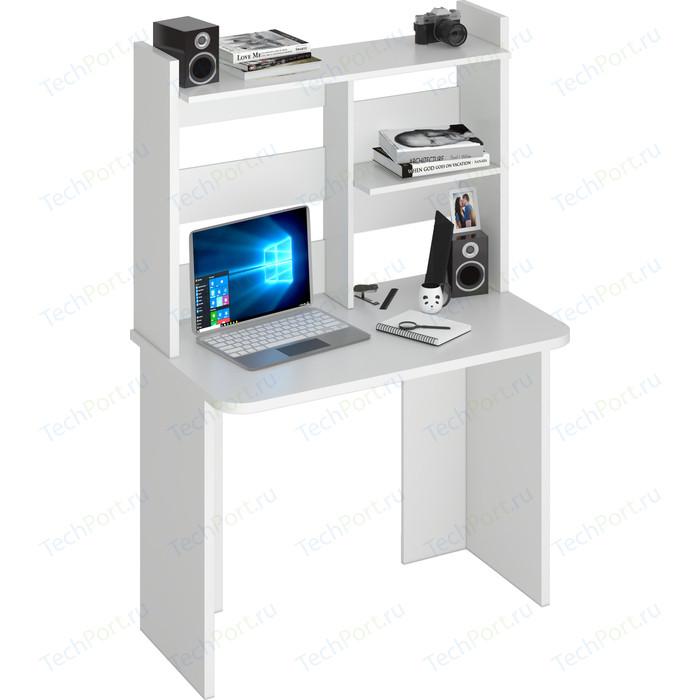 Стол компьютерный МЭРДЭС СКЛ-Прям100Р(без тумбы)+НКЛ-100 БЕ