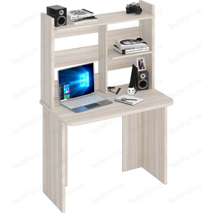 Стол компьютерный МЭРДЭС СКЛ-Прям100Р(без тумбы)+НКЛ-100 К