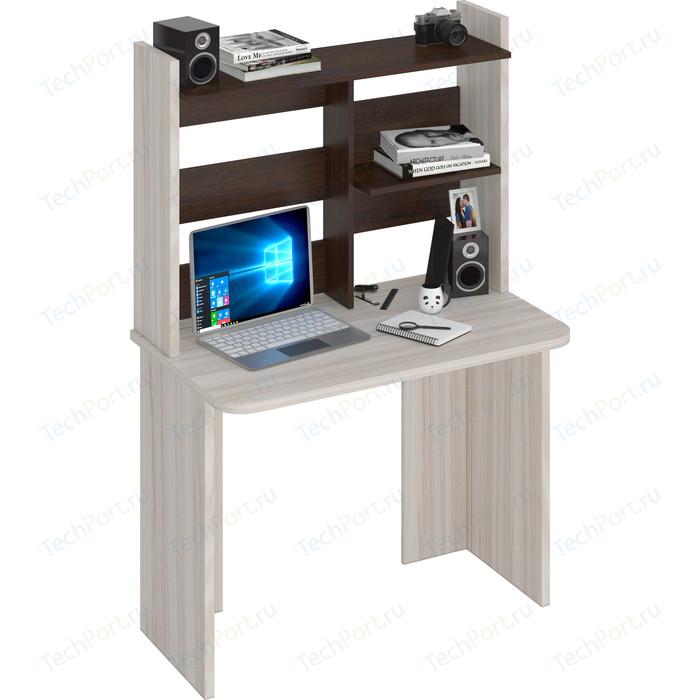 Стол компьютерный МЭРДЭС СКЛ-Прям100Р(без тумбы)+НКЛ-100 КВ