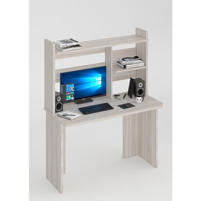 Стол компьютерный МЭРДЭС СКЛ-Прям120Р(без тумбы)+НКЛ-120 К