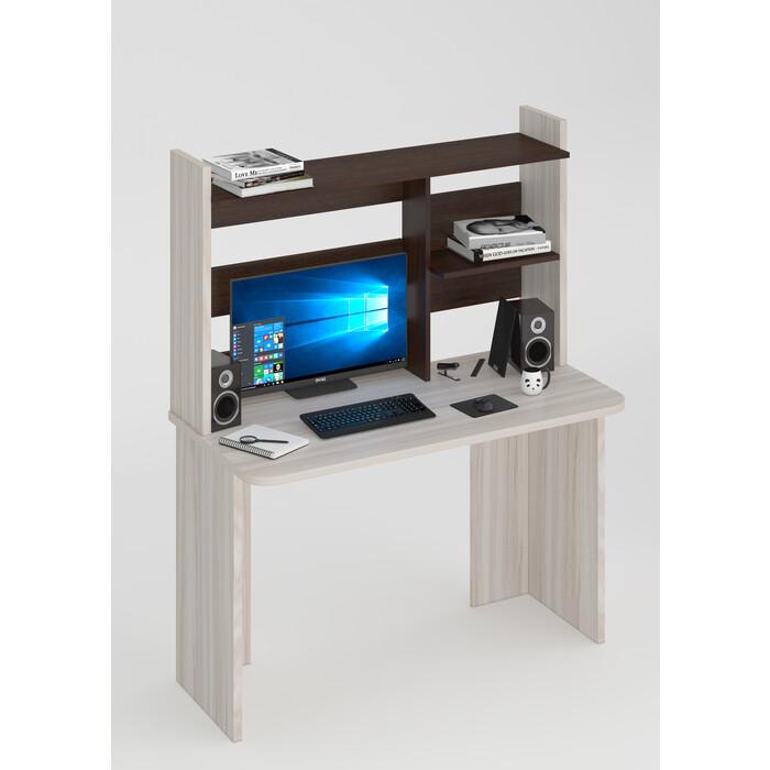 Стол компьютерный МЭРДЭС СКЛ-Прям120Р(без тумбы)+НКЛ-120 КВ
