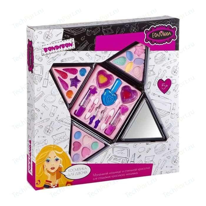 Набор детской декоративной косметики Bondibon Eva Moda Косметичка-пирамида раскладная (ВВ2247)