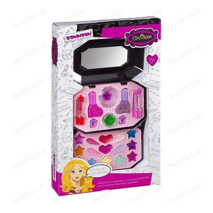 Набор детской декоративной косметики Bondibon Eva Moda Косметичка 2х-уровневая раскладная (ВВ2250)