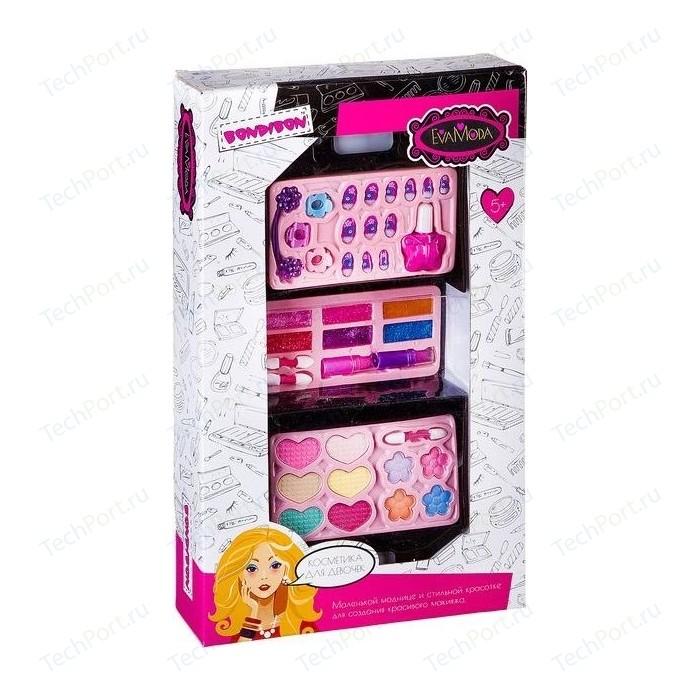 Набор детской декоративной косметики Bondibon Eva Moda Косметичка-чемодан раскладная (ВВ2251)