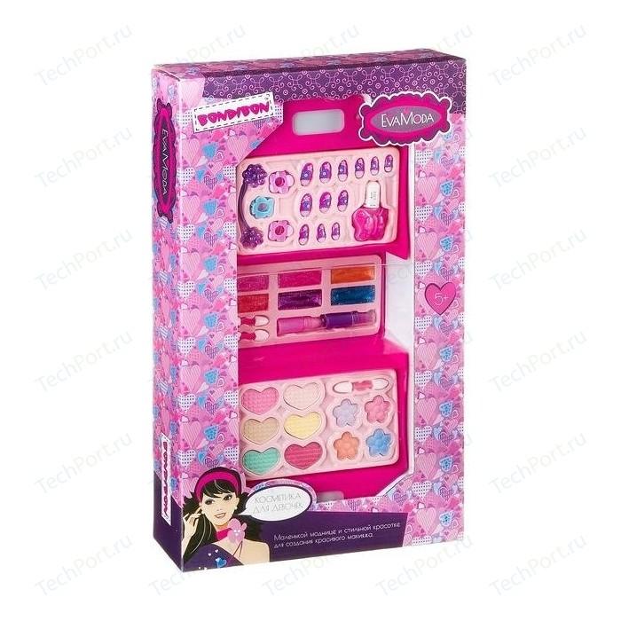 Набор детской декоративной косметики Bondibon Eva Moda Косметичка-чемодан раскладная (ВВ2279)