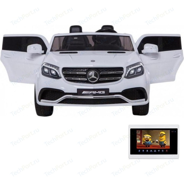 Детский электромобиль Harleybella Mercedes Benz GLS63 LUXURY 4WD 12V MP4 - White HL228-LUX-MP4