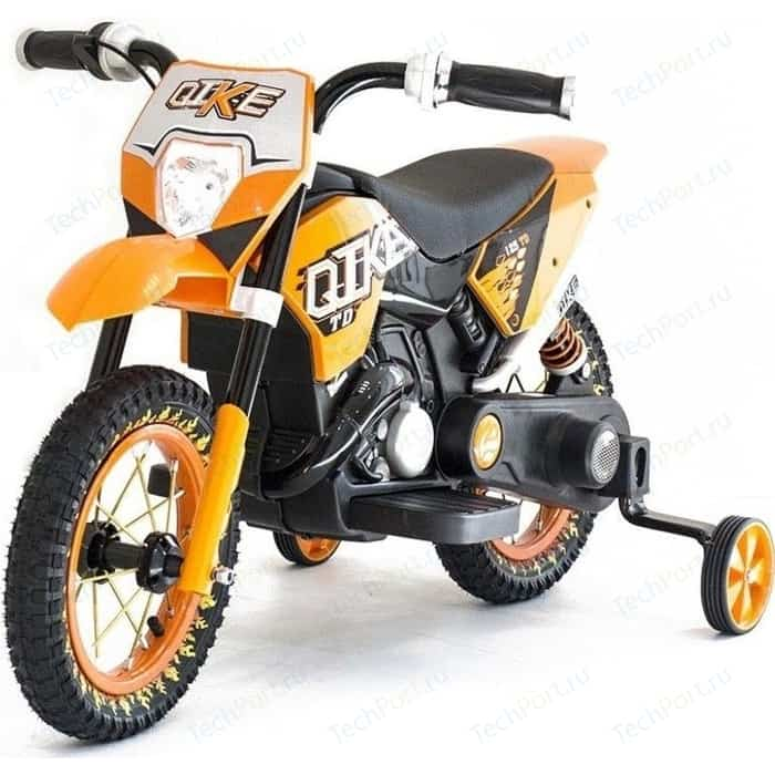 Детский кроссовый электромотоцикл QIKE TD Orange 6V - QK-30.000058-ORANGE