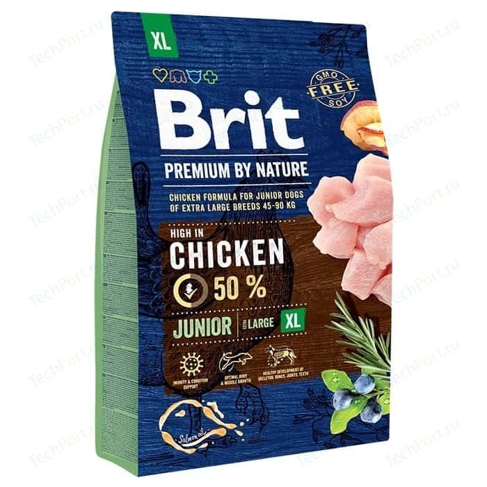 Сухой корм Brit Premium by Nature Junior XL Hight in Chicken с курицей для молодых собак гигантских пород 3кг (526499)