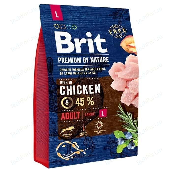 Сухой корм Brit Premium by Nature Adult L Hight in Chicken с курицей для взрослых собак крупных пород 3кг (526444)