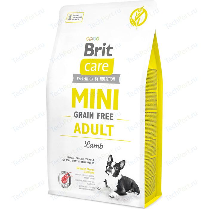 Сухой корм Brit Care MINI Grain-Free Adult Lamb беззерновой с ягненком для собак мелких пород 2кг (520107)