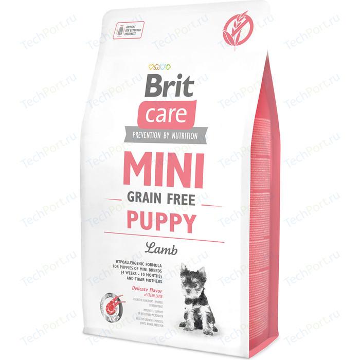 Сухой корм Brit Care MINI Grain-Free Puppy Lamb беззерновой с ягненком для щенков мелких пород 2кг (520138)