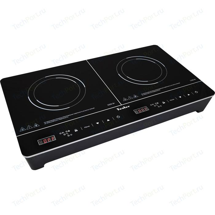 Настольная плита Tesler PI-23 черный плита tesler peo 01 white