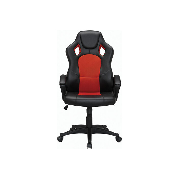 Кресло офисное Brabix Rider EX-544 экокожа черная/ткань красная, 531583
