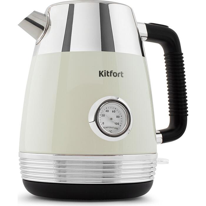 Чайник электрический KITFORT KT-633-3, бежевый