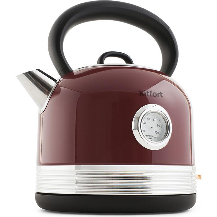 Чайник электрический KITFORT KT-634-2, красный