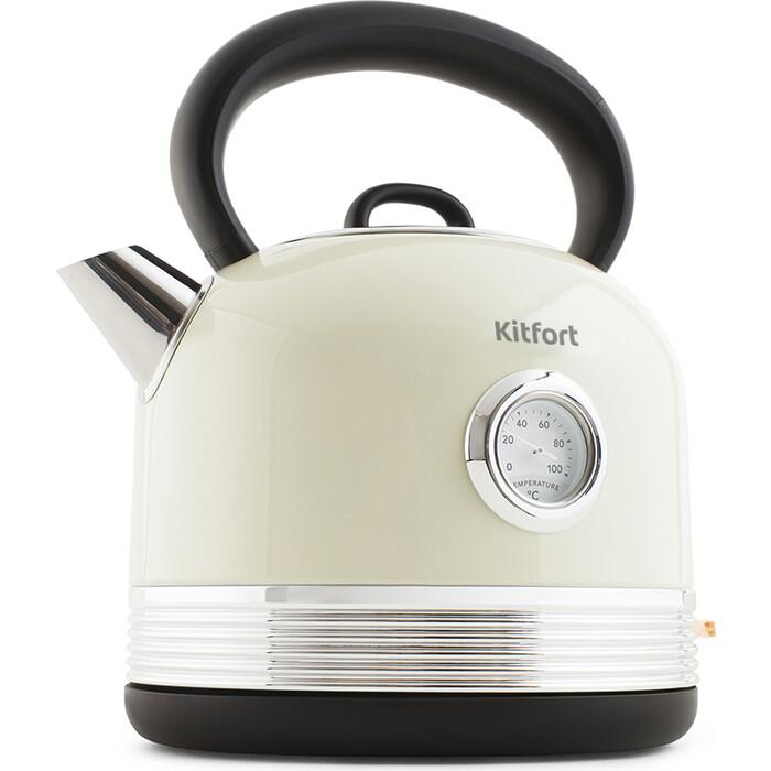 Чайник электрический KITFORT KT-634-3, бежевый