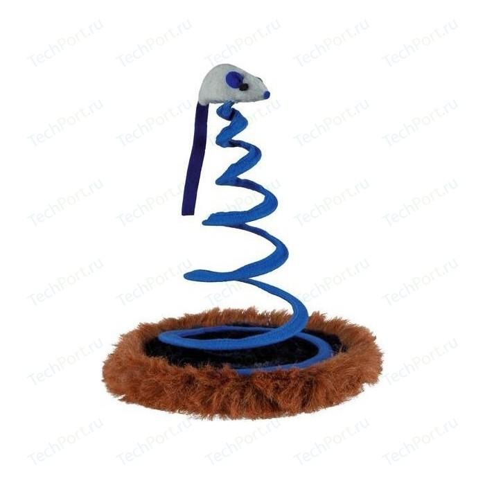 Игрушка TRIXIE Мышь на пружине ф20*25см для кошек (4568)
