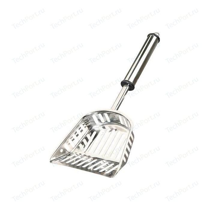 Совочек TRIXIE М стальной с сеткой для кошачьего туалета (40539)