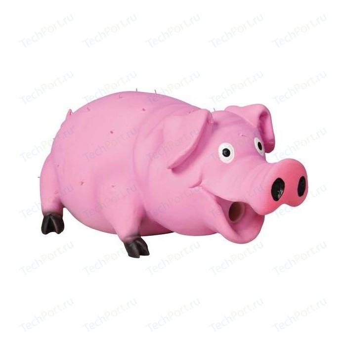 Игрушка TRIXIE Свинья со щетиной пищащая 21см для собак (35499) trixie игрушка trixie для собак кость меховая пищащая 20 см