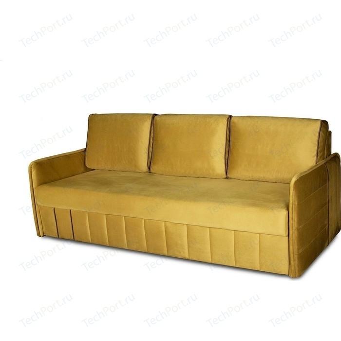 Диван-кровать DИВАН Слим velutto 28 горчичный, 03 коричневый артикул 80323953