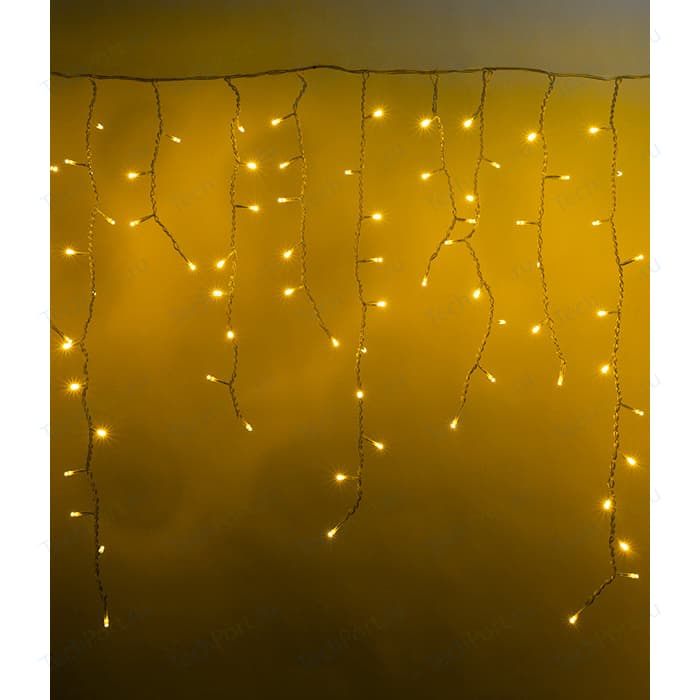 Light Светодиодная бахрома 4,8x0,9м, прозр. пр., желтый