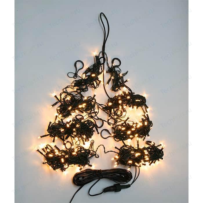 Light Светодиодная гирлянда на елку Пятиминутка 1.5м, зел. пр., тепл. белый