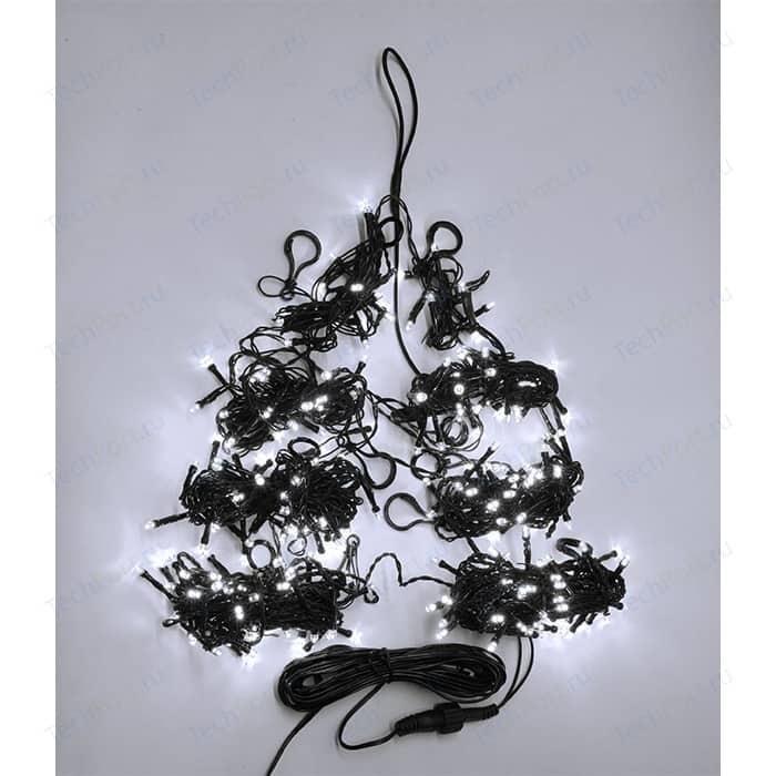 Light Светодиодная гирлянда на елку Пятиминутка 2.4м, зел. пр., белый