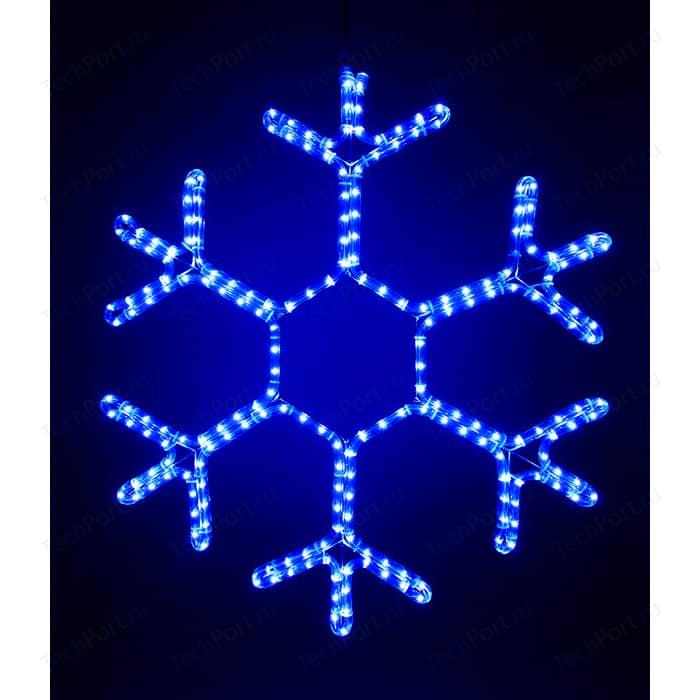 Light Снежинка светодиодная стандарт 0,5м, 220V, прозр. пр. синий