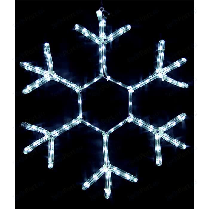 Light Снежинка светодиодная стандарт 0,7м, 220V, прозр. пр. белый