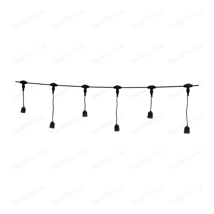Light Комплект гирлянд Unibelt Cafe 3 (3 метра, 12 патронов, черный пр.) individual e27 lamp holder pendant light for cafe dining room