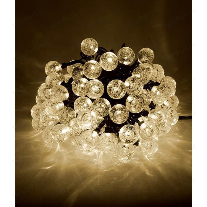 Гирлянда светодиодная Light Пузырьки 10м, 100 led, 220-230V., D23 мм тепл. белый schreiber гирлянда светодиодная разноцветная 100 ламп 10м