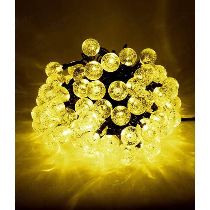Гирлянда светодиодная Light Пузырьки 10м, 100 led, 220-230V., D23 мм желтый schreiber гирлянда светодиодная разноцветная 100 ламп 10м