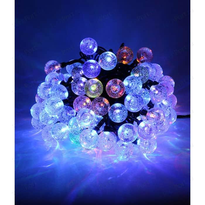 Гирлянда светодиодная Light Пузырьки 7,5м, 75 led, 220-230V., D23 мм RGB