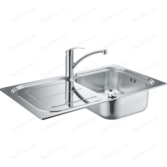 Комплект кухонной мойки Grohe K300 Sink Bundle 45-S со смесителем Eurosmart (31565SD0)