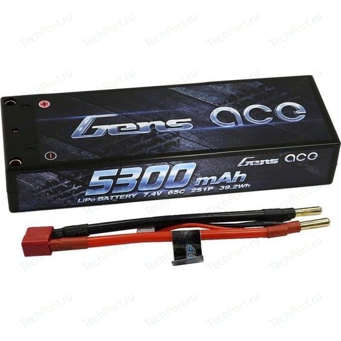 Аккумулятор Gens Ace Li-Po - 7.4В 5300мАч 65C Pro Racing (2S) - GA-B-65C-5300-2S1P-HardCase-10