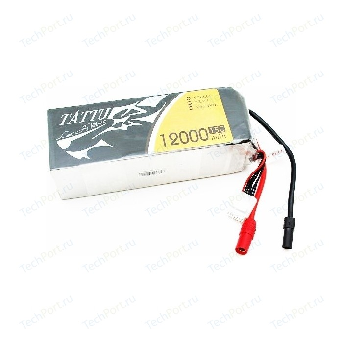 Аккумулятор Gens Ace TATTU Li-pol 22.2V 12000mAh, 15C, 6s1p, AS150 - TA-15C-12000-6S1P