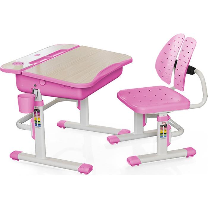 Комплект мебели (столик + стульчик) Mealux EVO-03 PN столешница клен/пластик розовый