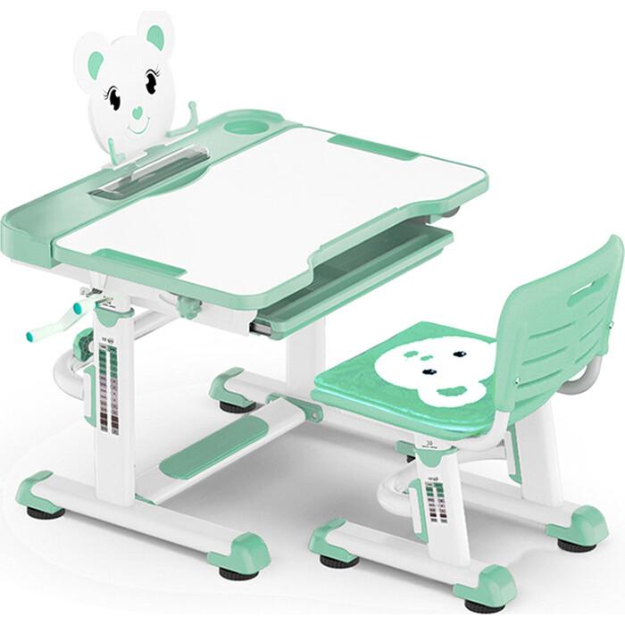 Комплект мебели (столик + стульчик) Mealux BD-04 Teddy green столешница белая/пластик зеленый
