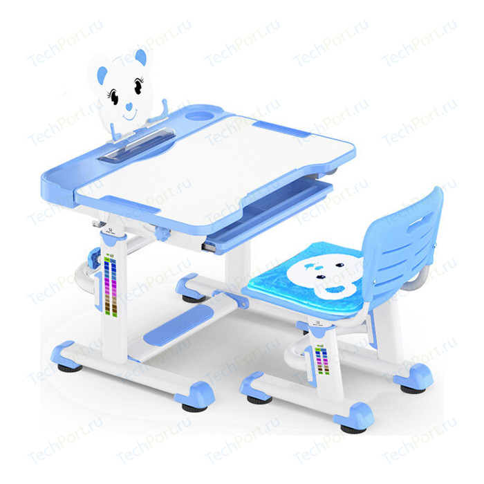 Комплект мебели (столик + стульчик) Mealux BD-04 Teddy blue столешница белая/пластик синий комплект защиты maxcity teddy m blue