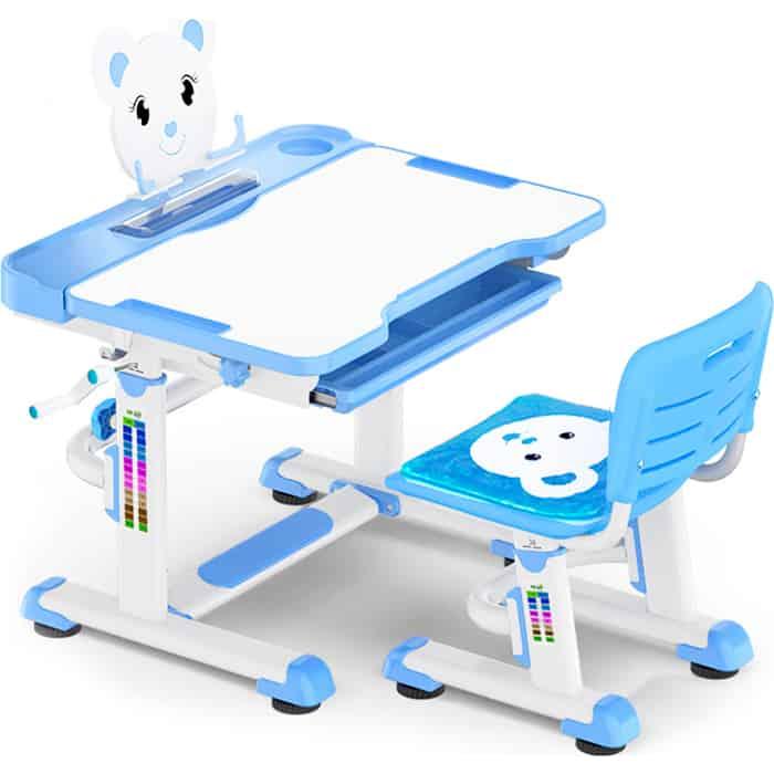 Комплект мебели (столик + стульчик) Mealux BD-04 XL Teddy blue столешница белая/пластик синий комплект защиты maxcity teddy m blue