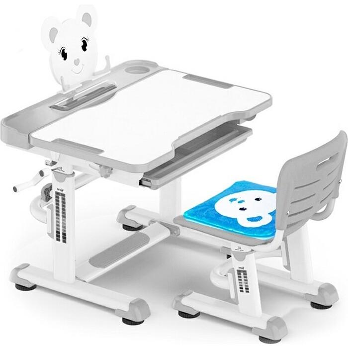 Комплект мебели (столик + стульчик) Mealux BD-04 XL Teddy gray столешница белая/пластик серый