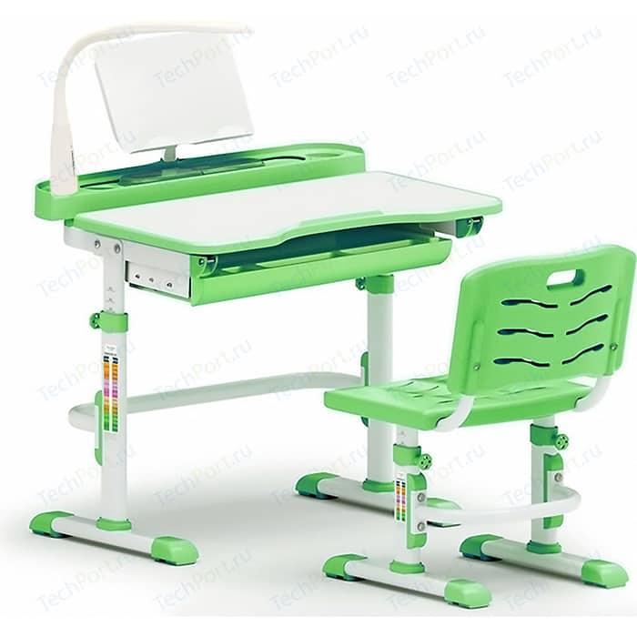 Комплект мебели (столик + стульчик лампа) Mealux EVO-18 Z с лампой столешница белая/пластик зеленый