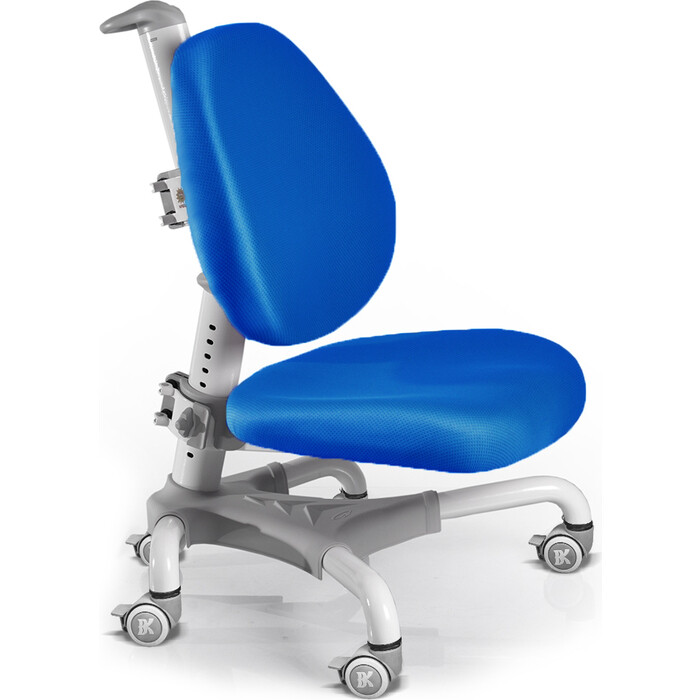 Кресло Mealux Champion Y-718 WKB белый металл/обивка синяя однотонная