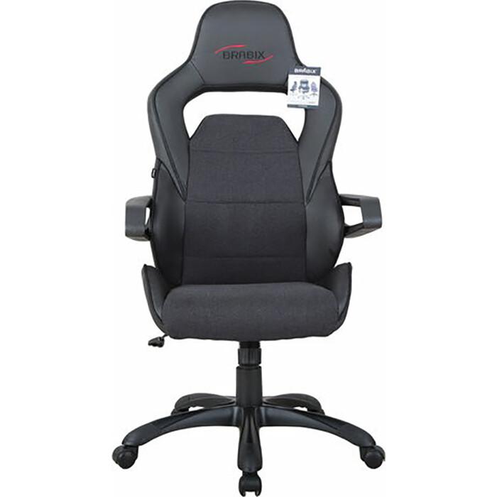 gm mc 001 2usb Кресло компьютерное Brabix Nitro GM-001 ткань/экокожа черное 531817