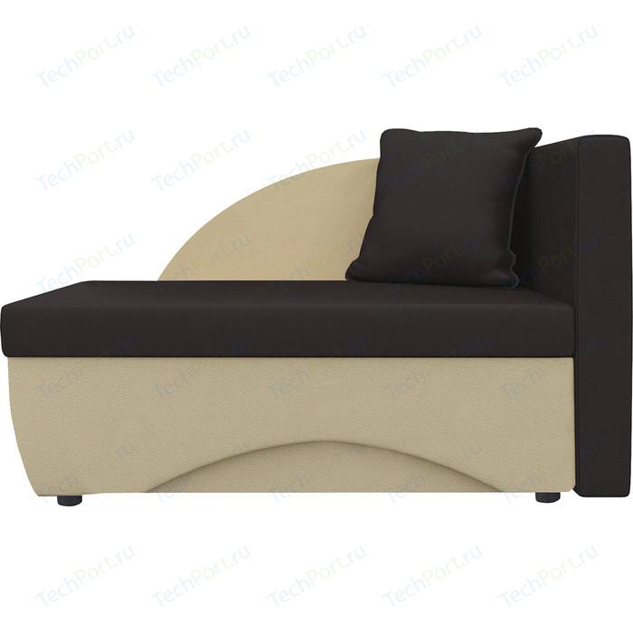 Кушетка Шарм-Дизайн Трио экокожа бежевый/коричневый правый кушетка шарм дизайн трио экокожа бежевый коричневый левый